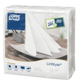 Linstyle fehér textilhatású szalvéta (fehér)