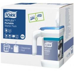 Tork Reflex hordozható laponkénti adagoló belsőmag adagolású törlőkhöz - kezdőcsomag