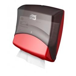 Tork hajtogatott törlőpapír/kendő adagoló (piros/fekete), W4